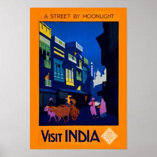 デジタルによってリマスターされるヴィンテージのインド旅行ポスター ポスター