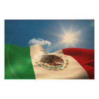 デジタルによって発生させるメキシコの旗の波立つこと ウッドウォールアート