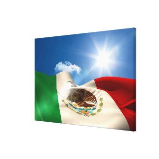 デジタルによって発生させるメキシコの旗の波立つこと キャンバスプリント
