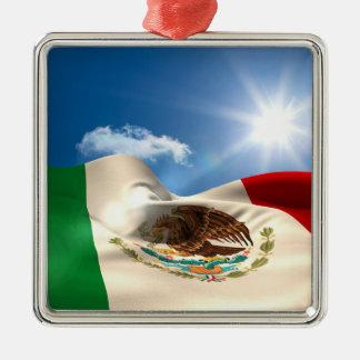 デジタルによって発生させるメキシコの旗の波立つこと メタルオーナメント