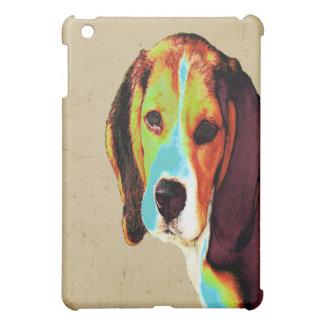 デジタルによって着色されるビーグル犬 iPad MINIケース