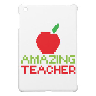 デジタルりんごを持つすばらしい先生 iPad MINI CASE