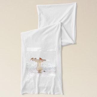 デジタルアートを食べ物を与える朝 スカーフ