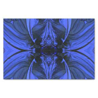デジタルエレガントで青いデザイン 薄葉紙