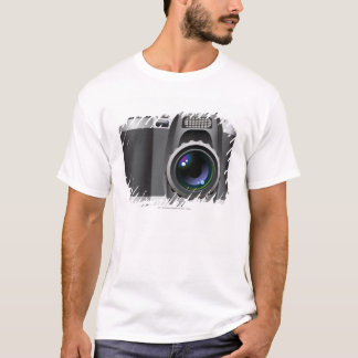 デジタルカメラのデジタルイラストレーション Tシャツ
