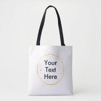 デジタルスケッチの金ゴールドの円は、ここのあなたの文字設計します トートバッグ