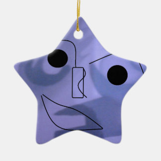デジタルスマイル 陶器製星型オーナメント