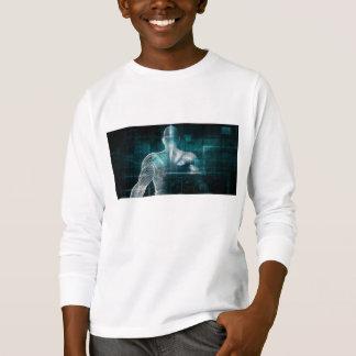 デジタルテクノロジーとしてヘルスケア・システムネットワーク Tシャツ