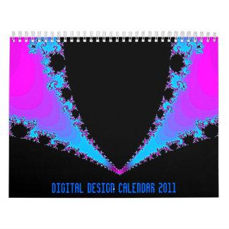 デジタルデザインのカレンダー2011年 カレンダー