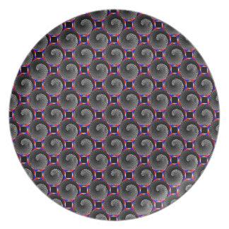 デジタルレジ係の陰陽のプレート 皿