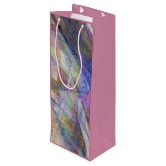 """デジタル上敷の構成のワインのギフトバッグを""""飛びます"""" ワインギフトバッグ"""