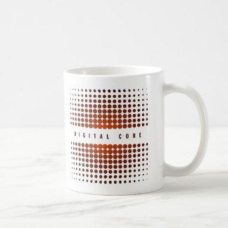 デジタル中心 コーヒーマグカップ