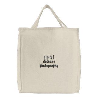 デジタル回り道によって刺繍されるバッグ 刺繍入りトートバッグ