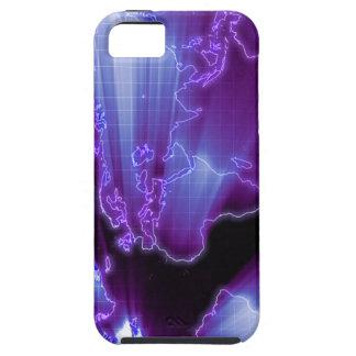 デジタル地球の地図の青 iPhone 5 ケース