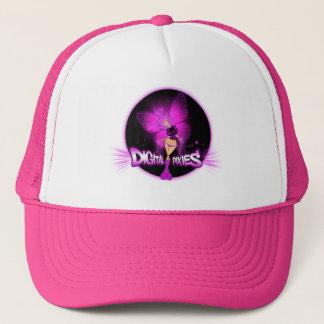 デジタル妖精のピンクの妖精-トラック運転手の帽子 キャップ