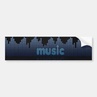 デジタル平衡装置音楽波の壁-バンパーステッカー バンパーステッカー