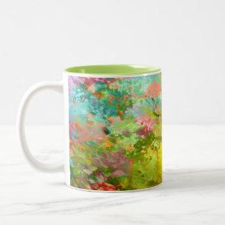 デジタル抽象的な絵画 ツートーンマグカップ