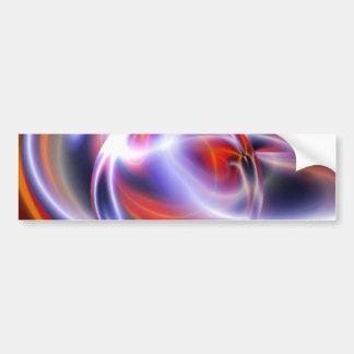 デジタル抽象的な絵画 バンパーステッカー