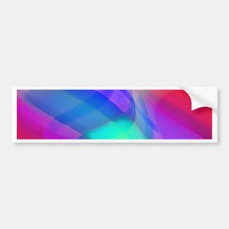 デジタル放射状色の汚点の白熱芸術美しいDes バンパーステッカー