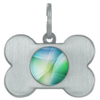 デジタル放射状色の汚点の白熱芸術美しいDes ペットネームタグ