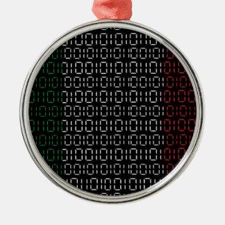 デジタル旗イタリア メタルオーナメント