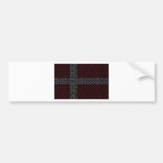 デジタル旗(デンマーク) バンパーステッカー