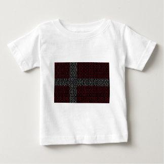 デジタル旗(デンマーク) ベビーTシャツ