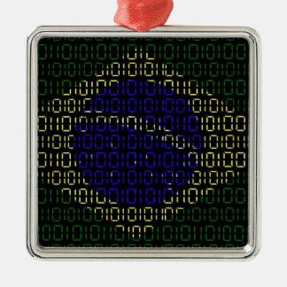 デジタル旗(ブラジル) メタルオーナメント