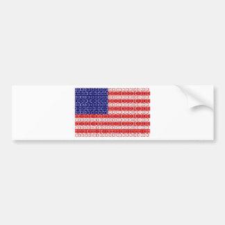 デジタル旗(米国) バンパーステッカー