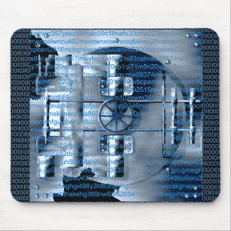 デジタル暗号化のマウスパッド マウスパッド