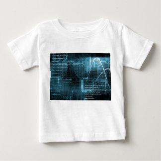 デジタル概念のインターネットの概念の背景 ベビーTシャツ