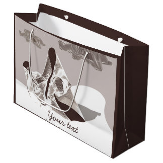 デジタル母および子供 ラージペーパーバッグ
