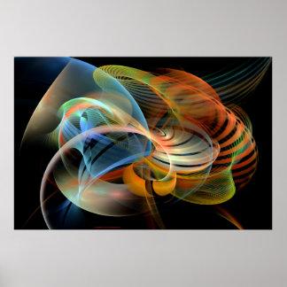 デジタル現代美術ベストによって見られるLgの眺めのノート ポスター