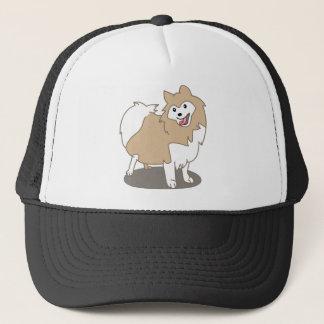 デジタル絵-ポメラニア犬犬 キャップ