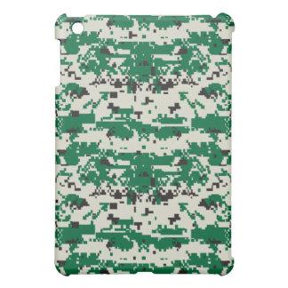 デジタル緑のカムフラージュパターン iPad MINI カバー