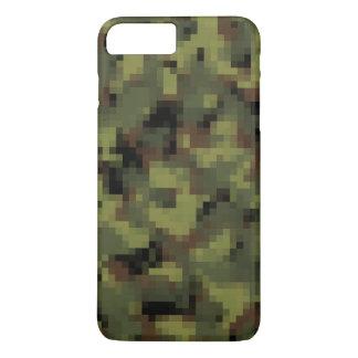 デジタル緑の軍の迷彩柄 iPhone 8 PLUS/7 PLUSケース