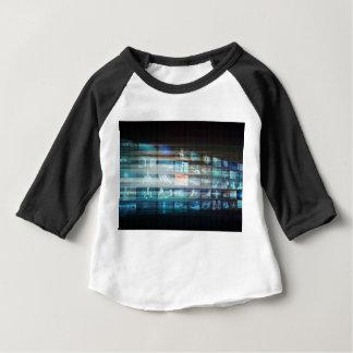 デジタル背景のインターネットのくもの巣の抽象芸術 ベビーTシャツ