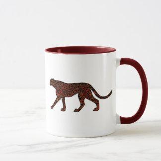 デジタル色彩の鮮やかなヒョウの芸術 マグカップ
