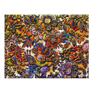 デジタル花パターン芸術 ポストカード
