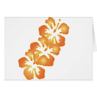 デジタル芸術のカスタムなオレンジハイビスカスの花 カード