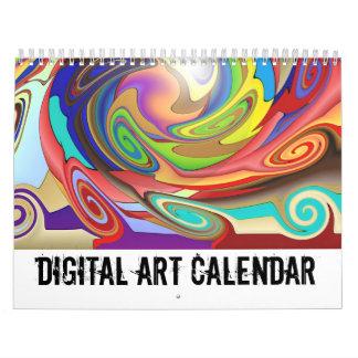 デジタル芸術のカレンダー カレンダー