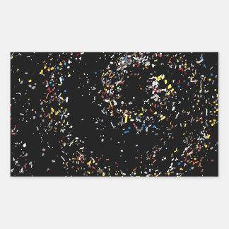 デジタル芸術の宇宙01 長方形シール