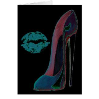 デジタル芸術の小剣の靴および唇 カード