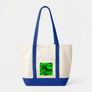デジタル芸術の抽象芸術の緑の長方形 トートバッグ