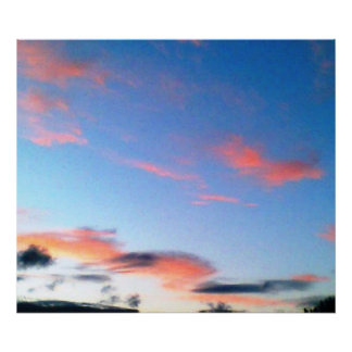 デジタル芸術の朝の空の写真撮影 ポスター