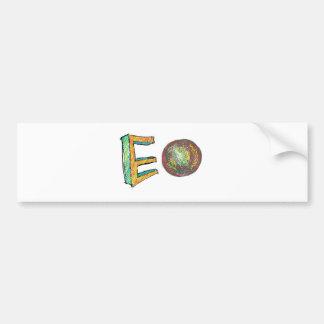 デジタル芸術EO バンパーステッカー