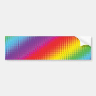 デジタル虹ライン バンパーステッカー