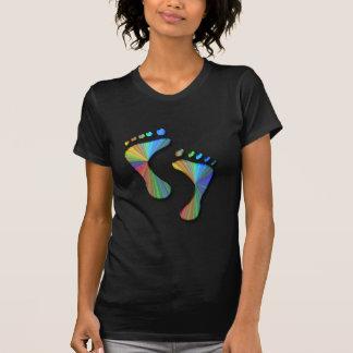 デジタル足跡 Tシャツ
