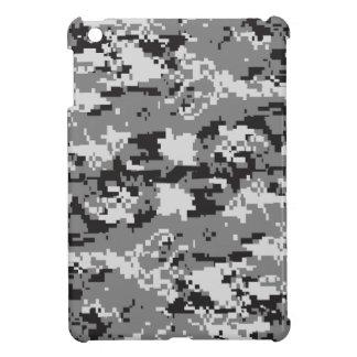 デジタル迷彩柄の白黒および灰色 iPad MINI カバー