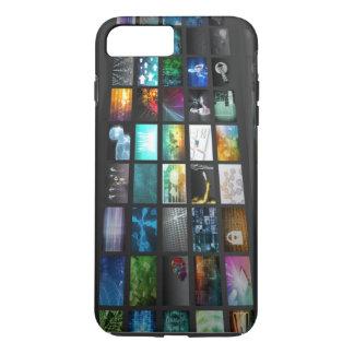 デジタル通信網のためのマルチメディアの背景 iPhone 8 PLUS/7 PLUSケース